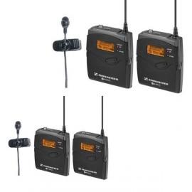 PACK 2 micrófonos de solapa inalámbrico Sennheiser