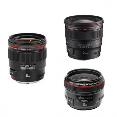 Maleta 3 ópticas Canon Serie L (24, 35, 50)